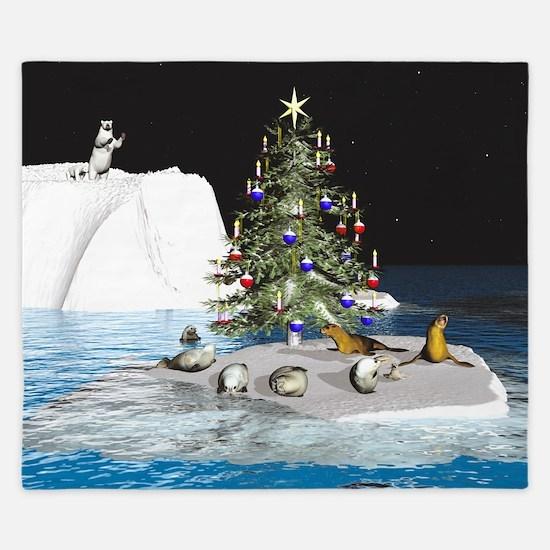 Christmas at the North Pole King Duvet