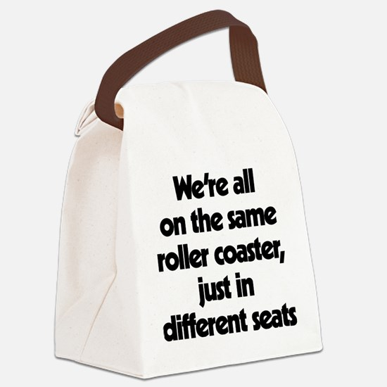 The Same Roller Coaster Just In D Canvas Lunch Bag