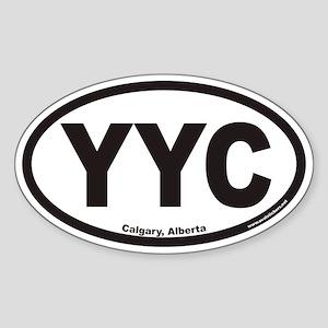 Calgary Alberta YYC Euro Oval Sticker