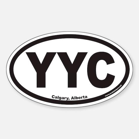 Calgary Alberta YYC Euro Oval Decal