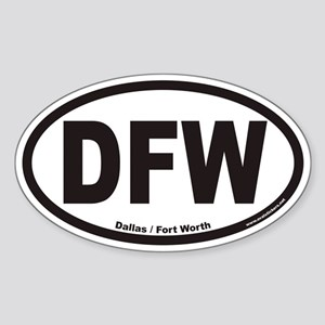 Dallas Fort Worth DFW Euro Oval Sticker