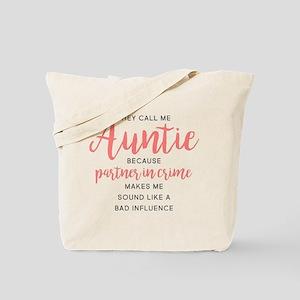 Auntie Partner in Crime Tote Bag