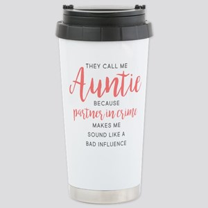 Auntie Partner in 16 oz Stainless Steel Travel Mug