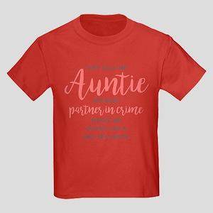 Auntie Partner in Crime Kids Dark T-Shirt