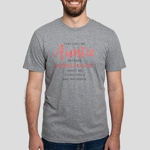 Auntie Partner in Crime Mens Tri-blend T-Shirt