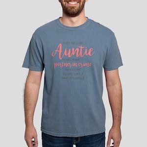 Auntie Partner in Crime Mens Comfort Colors Shirt