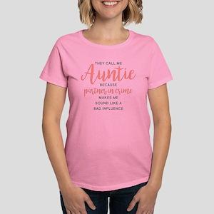 Auntie Partner in Crime Women's Dark T-Shirt