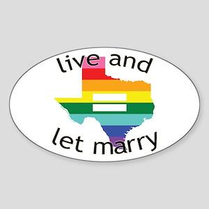 Texas live let marry blk font Sticker