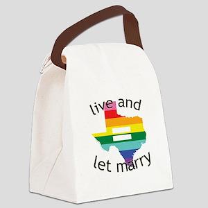 Texas live let marry blk font Canvas Lunch Bag