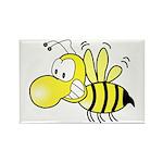 The Original Cute Stinger Bee Rectangle Magnet (1