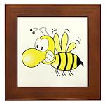 The Original Cute Stinger Bee Framed Tile