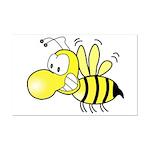 The Original Cute Stinger Bee  Mini Poster Print