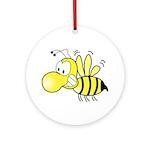 The Original Cute Stinger Bee Ornament (Round)