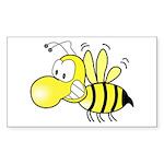 The Original Cute Stinger Bee Sticker (Rectangula