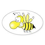 The Original Cute Stinger Bee Oval Sticker