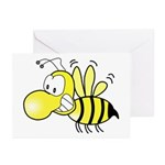 The Original Cute Stinger Bee Greeting Cards (Pac