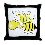 The Original Cute Stinger Bee  Throw Pillow