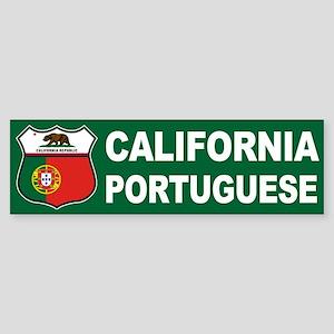 California Portuguese American Bumper Sticker