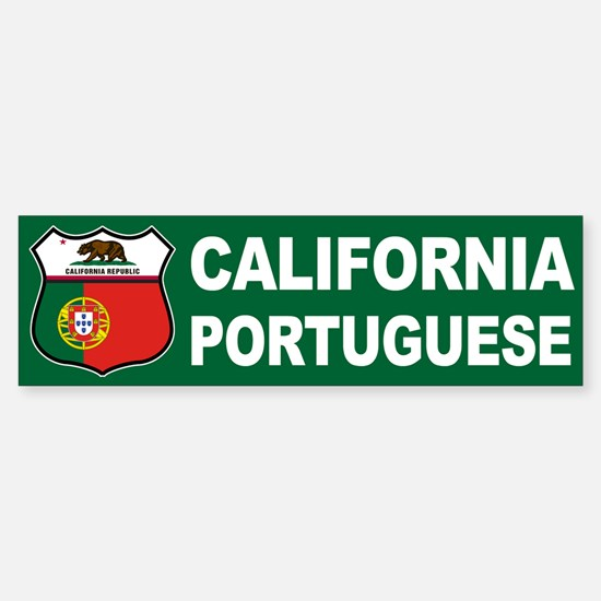 California Portuguese American Bumper Bumper Bumper Sticker