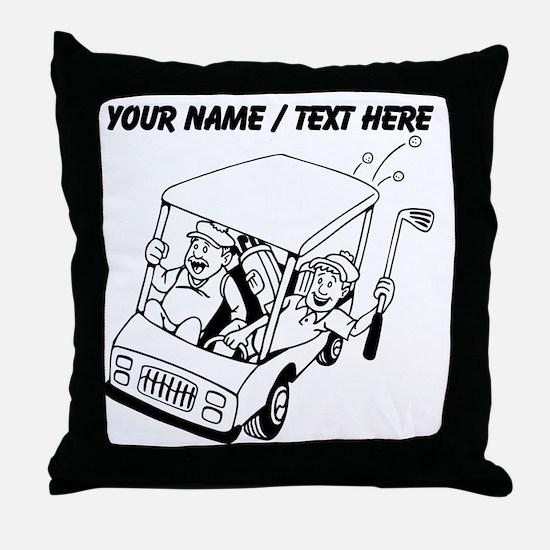 Custom Golf Cart Throw Pillow