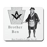 Ben Franklin Lodge No. 83 Mousepad