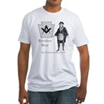 Ben Franklin Lodge No. 83 Fitted T-Shirt