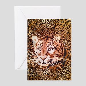 modern leopard print Greeting Card