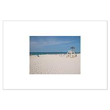 PI White Beach - Large Poster