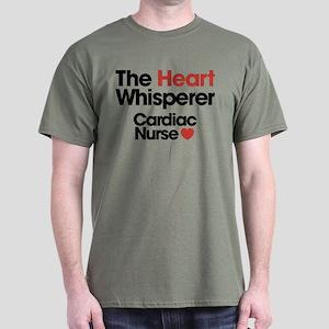 The Heart Whisperer Cardiac Nurse Dark T-Shirt