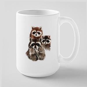 Cute Watercolor Raccoon Animal Family Mugs