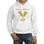 Golden Matron of Honor Hooded Sweatshirt