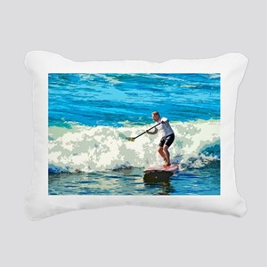 Paddleboarder Rectangular Canvas Pillow