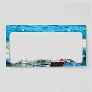 Paddleboarder License Plate Holder