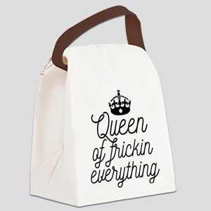 Queen Of Frickin Everything Canvas Lunch Bag