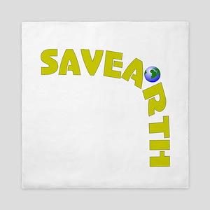 Save Earth Queen Duvet