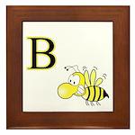 B is for Bee Framed Tile
