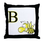B is for Bee  Throw Pillow