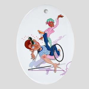Handicap Slap! Oval Ornament