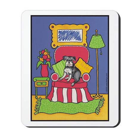 """Sitting Pretty"" Schnauzer Mousepad"