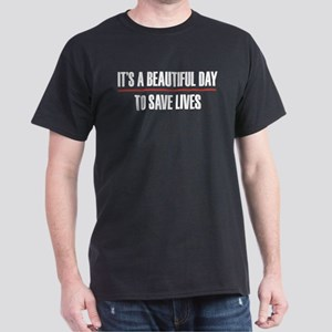 Grey's Anatomy It's A Beautiful Day T Dark T-Shirt