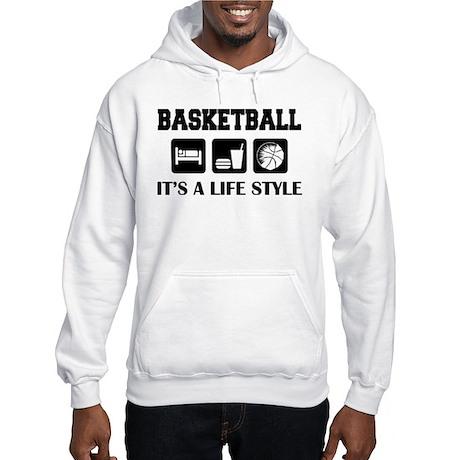 Sleep Eat Play Basketball Hooded Sweatshirt