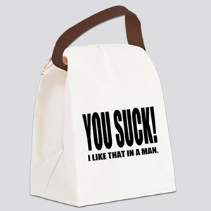 You Suck! Funny Design Canvas Lunch Bag