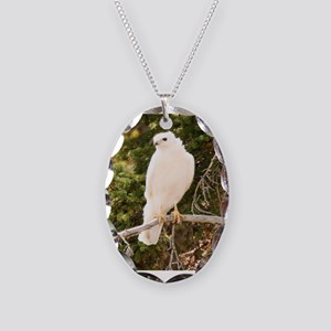 White red tail hawk Necklace