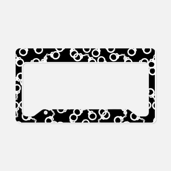 Handcuffs Pattern License Plate Holder