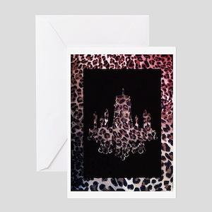 leopard print chandelier Greeting Card