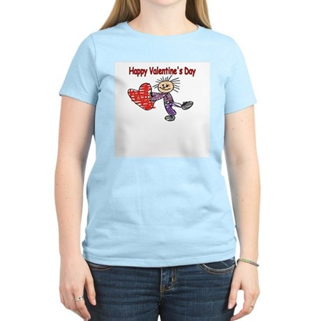 From the kids- Valentines Dra Women's Pink T-Shirt