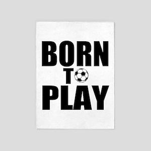 Born to Play 5'x7'Area Rug