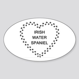 irish water spaniel paw heart Sticker