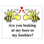 Are you looking at my bees Small Poster