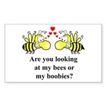 Are you looking at my bees Rectangle Sticker